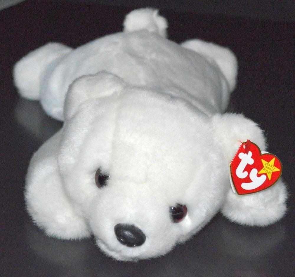 24c2a9990eb TY Beanie Buddy  Chilly the  PolarBear Rare MWMT 14