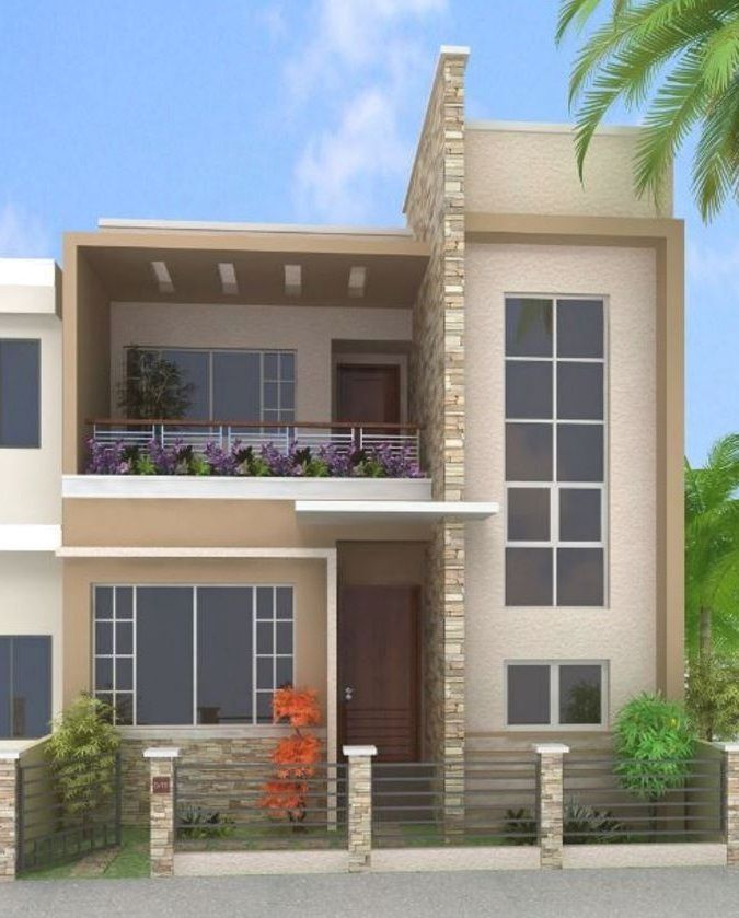 Casa Grande De Dos Pisos Una Construcción Moderna Y De Lujo