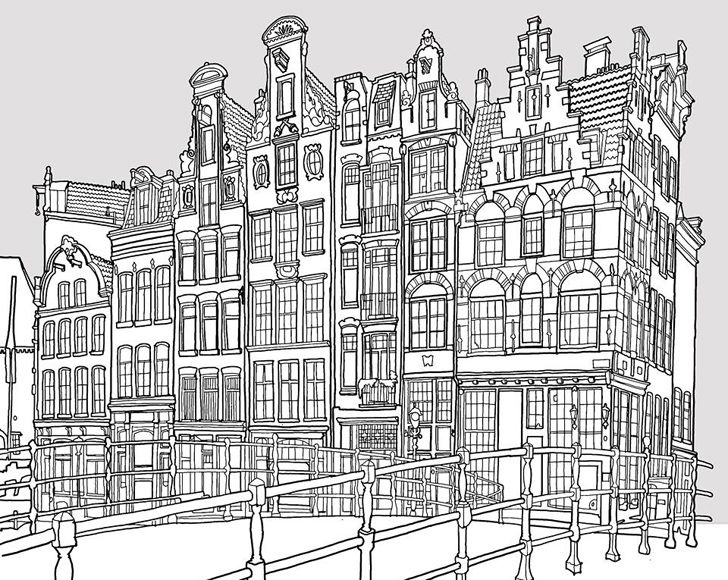 Fantastic Cities Is An Architecture Themed Coloring Book For Adults Fantastic Cities Coloring Book Coloring Books Steve Mcdonald