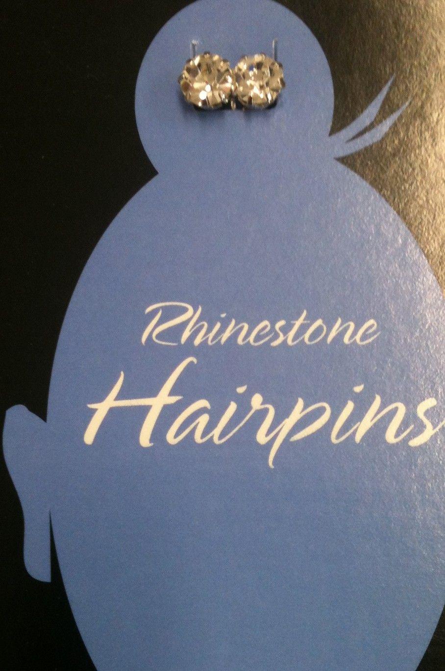 Rhinestone Hair Pin Stud (set of 2)...order online at