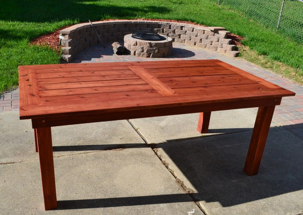 Beautiful Outdoor Cedar Patio Table Diy Plans Crafts