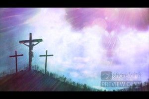 Add some visual significance to your worship by using this worship video loop. The worship video displays a picture of three crosses on a hill. The image of Jesus hangs on the central cross. The beauty of the scene is offset by the awful yet amazingly wonderful reminder of Jesus' death in our place. #Sharefaith #Faith #ChurchMedia #VideoLoop #Design