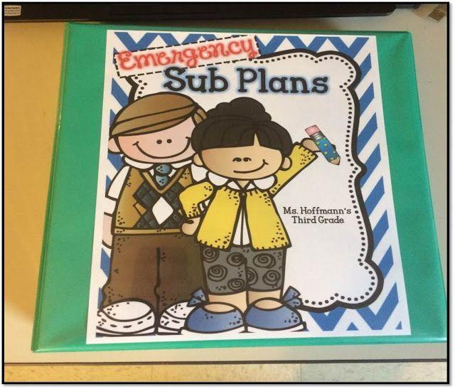Emergency Sub Plan Binder | 3 Teacher Chicks #emergencysubplans Emergency Sub Plan Binder | 3 Teacher Chicks #emergencysubplans