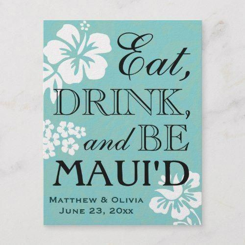 Maui Destination Wedding Save The Date Postcard