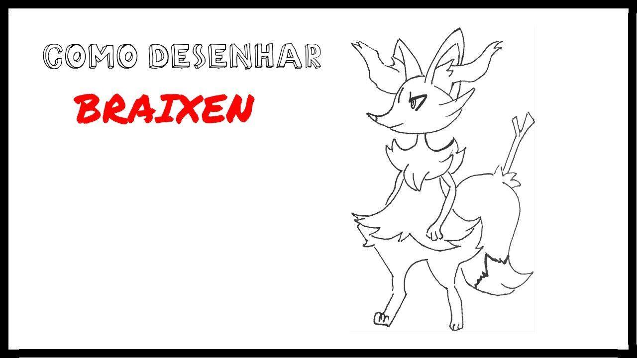 como desenhar braixen pokemon meu canal youtube pinterest