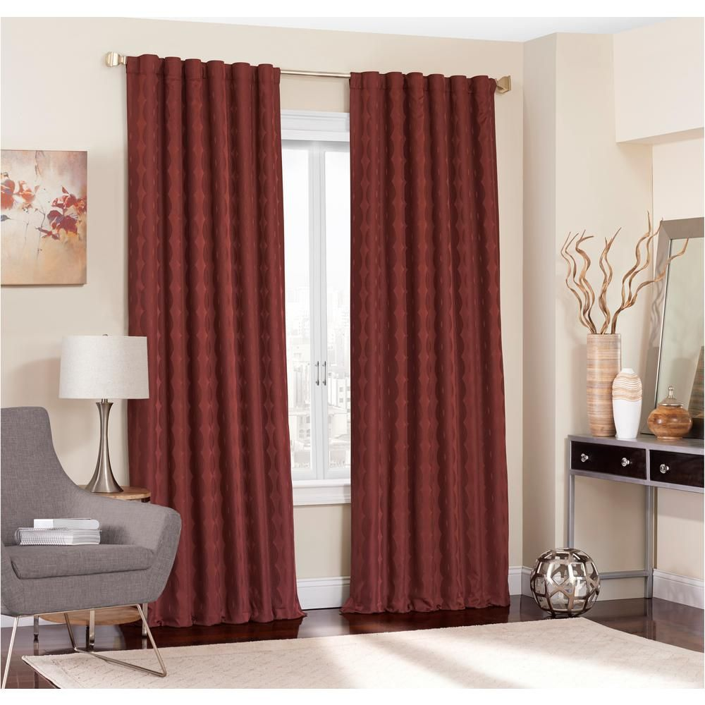 Eclipse Adalyn Blackout Window Curtain Panel In Burgundy 52 In