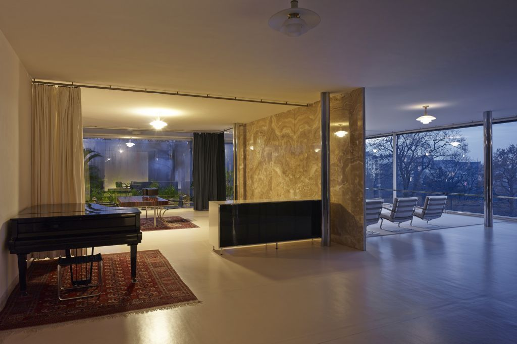 The Interior Of Villa Tugendhat In Brno Czech Republic By