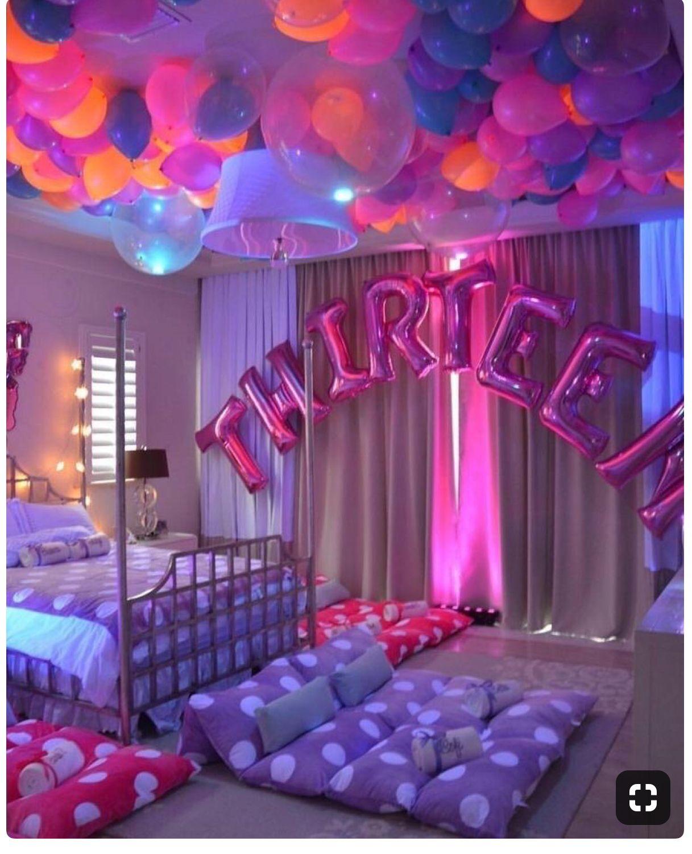 SLEEPOVER PARTY 💕💕💕💕 Birthday party for teens, Sleepover