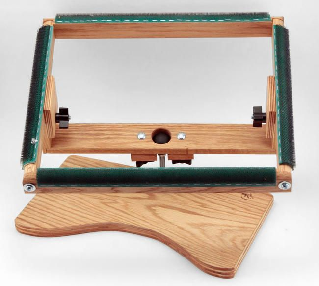 Rectangular Swivel Rug Hooking Lap Frame By K S Creations Rug Making Equipment Rug Hooking Rug Hooking Frames Rug Making