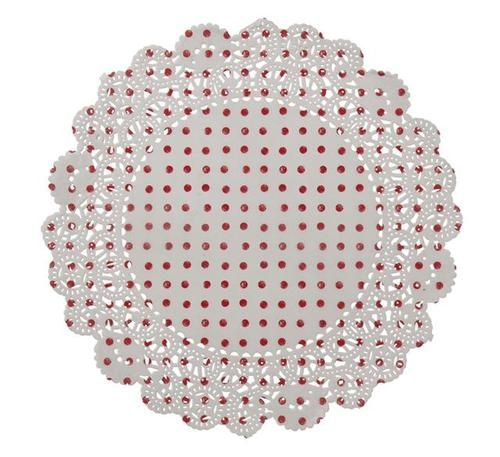 Christmas Party Knitted Noel Range Red White Polka Dot Paper Doilies x 20 | eBay