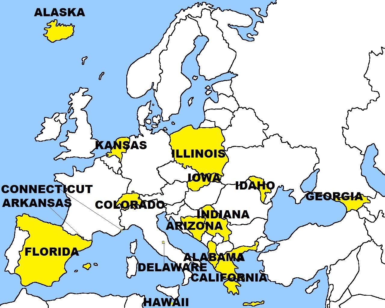 Europe And United States Replaced States