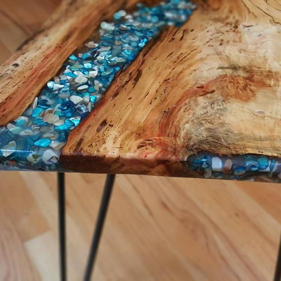 Coffee Table Example Of Custom Order Live Edgewood Resin Etsy In 2020 Wood Resin Table Resin Furniture Coffee Table Wood