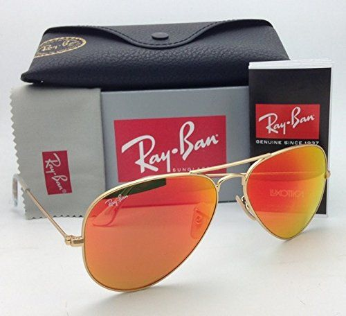 3a2318f251 Ray Ban Aviator Luxottica Red Orange Mirror Gold Frame Rb3025. Ray Ban  Rb3025 Aviator 112 69 Matte ...