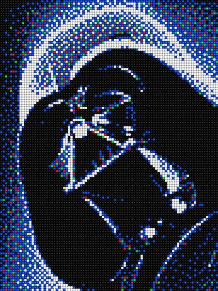 Darthvader Star Wars With Pixel Art Quercetti Pixel Art