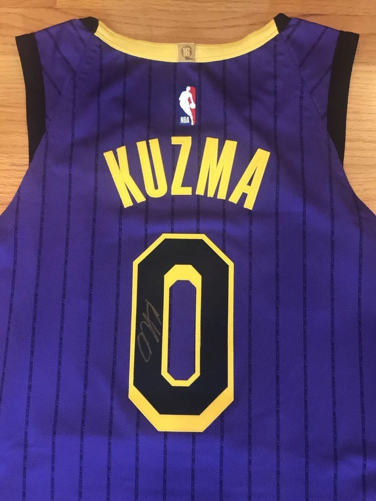 9d15f483da52 Kyle Kuzma Autograph City Edition Nike Lakers Authentic Jersey Men s Large  (48) (eBay Link)