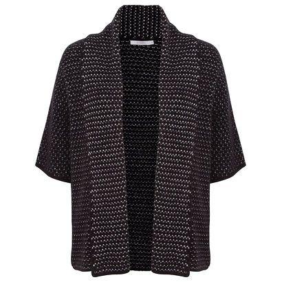 ATEEN - Kimono tricô Ateen - preto - OQVestir