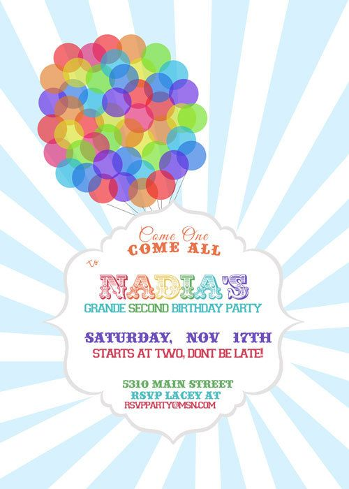DisneyPixar Up inspired birthday invitations party Pinterest