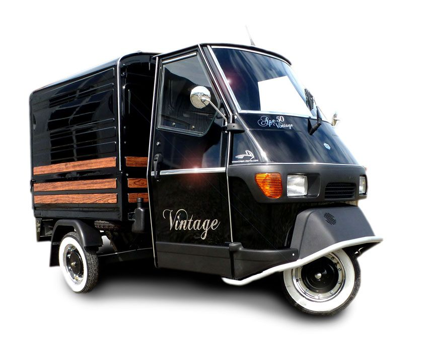 piaggio ape 50 vintage kastenversion by casa moto wheels pinterest piaggio ape vespa. Black Bedroom Furniture Sets. Home Design Ideas