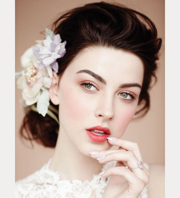 Bridal Inspiration These Bridal Updos Are The Real Deal: Wedding Makeup Vintage, Wedding Day