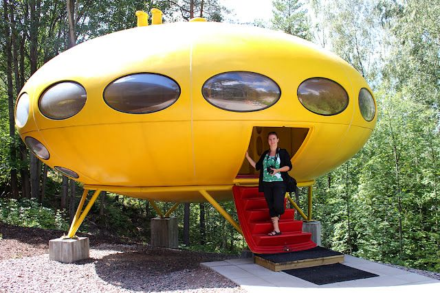 Flashback to the 1960's house of the future, the Futuro! We'd live in a spaceship house would you?