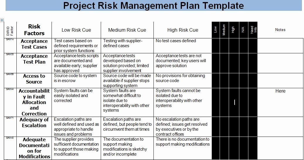 Risk Management Plan Template Best Of Risk Management