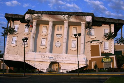 Upside Down House Pigeon Forge Tn United States This Was My