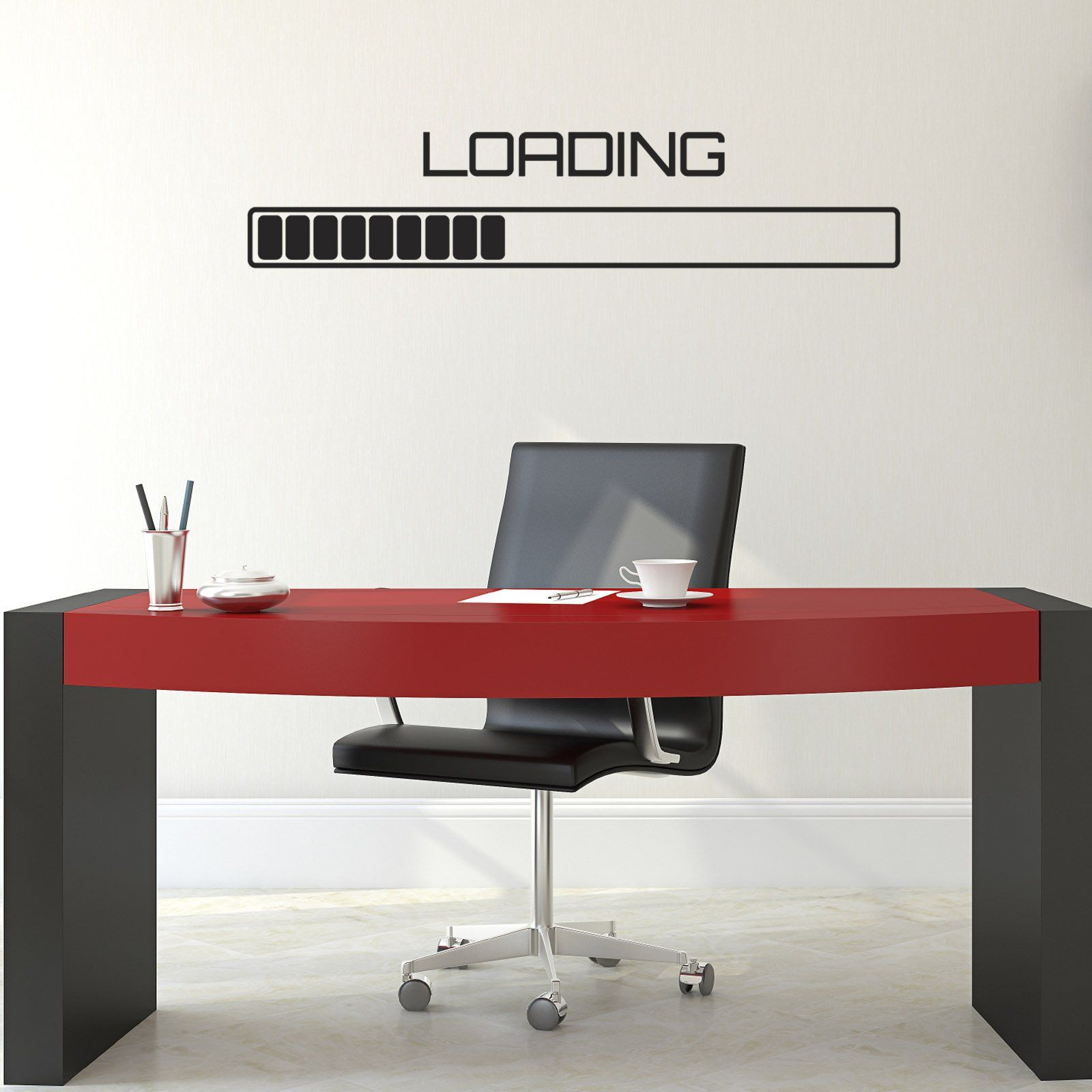 Loading Symbol Progress Bar Wall Decal  Gamer Computer Wall