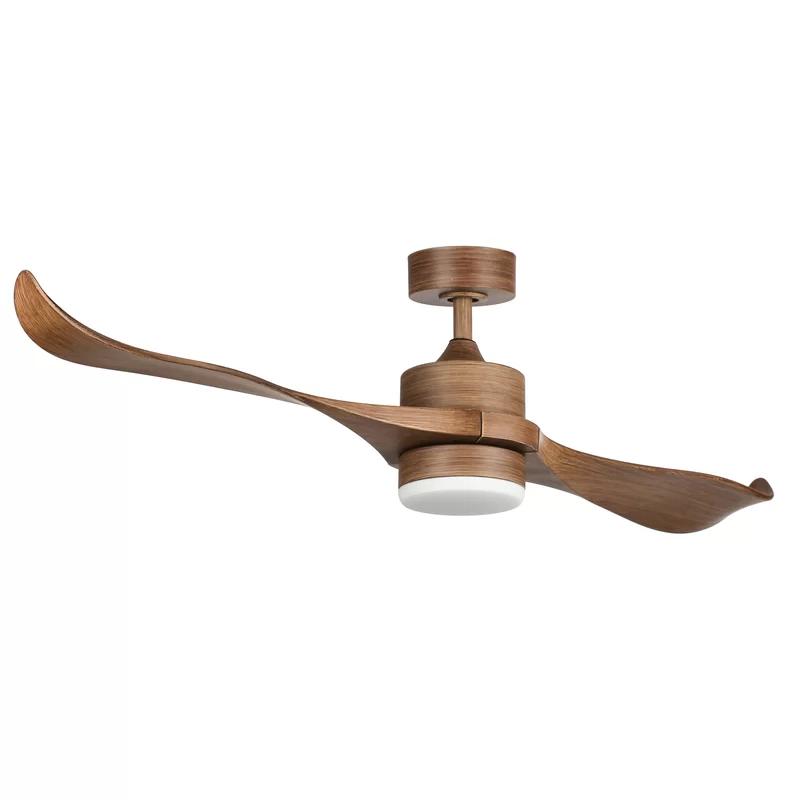 Orren Ellis 52 Minnetrista 2 Blade Led Ceiling Fan With Remote Light Kit Included Reviews Wayfair Led Ceiling Fan Ceiling Fan Ceiling Fan With Remote