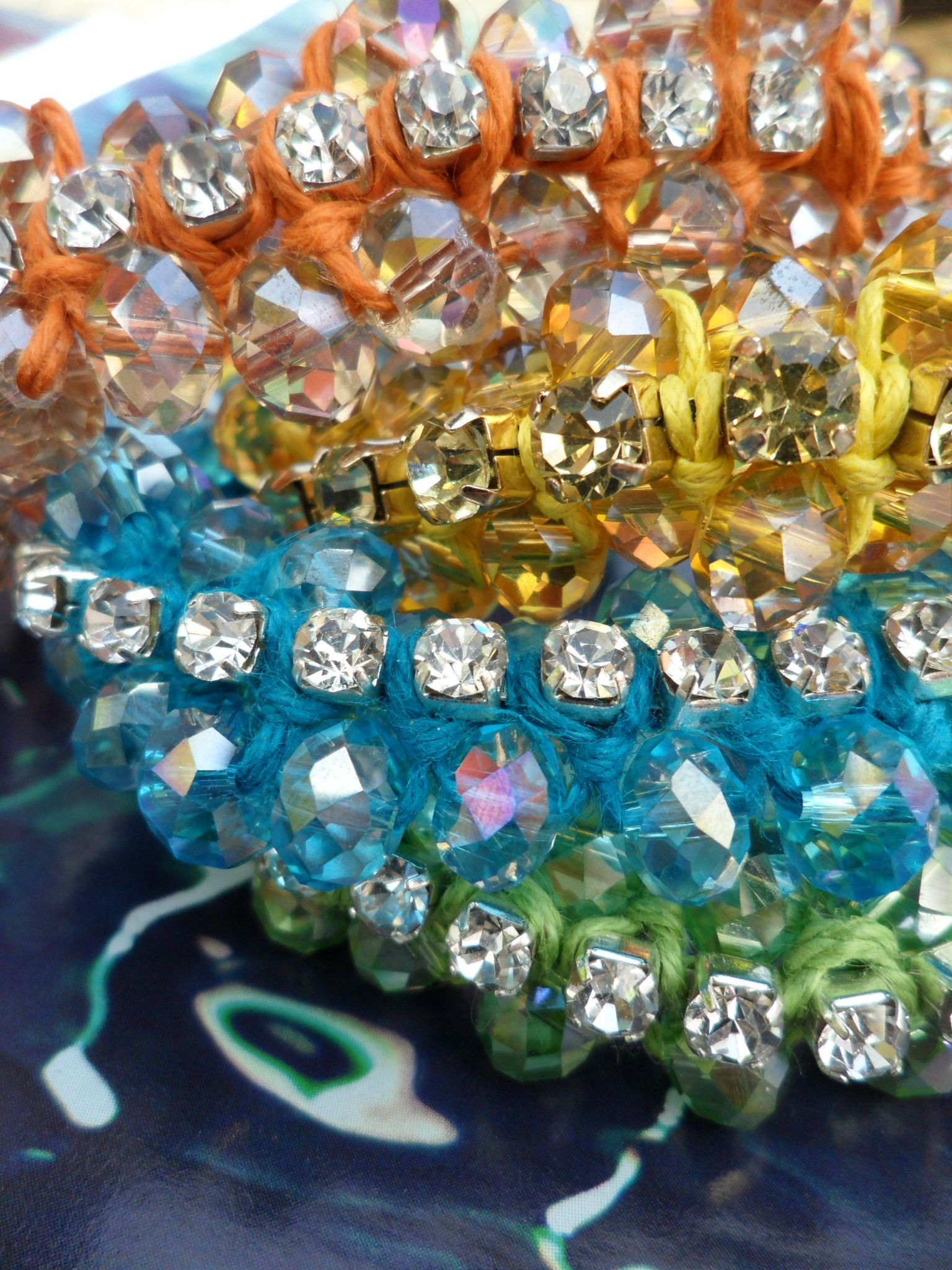 Colorful summer bracelets with crystals diggum for her