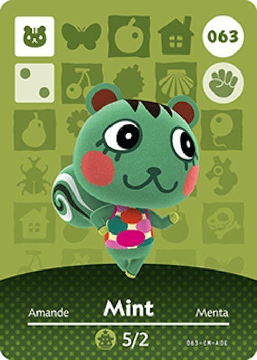 Nintendo Animal Crossing Happy Home Design Mint Amiibo Card 063 USA Version #Nintendo