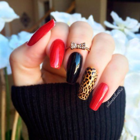 150 trendy acrylic nails designs 2018  red acrylic