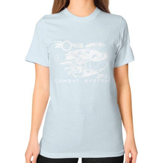 COMBAT SYSTEM Unisex T-Shirt (on woman)