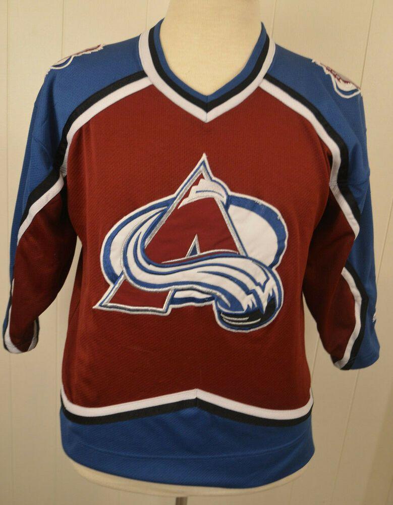 best service e4c02 4580c Vintage Starter Colorado Avalanche NHL Hockey Jersey Youth ...