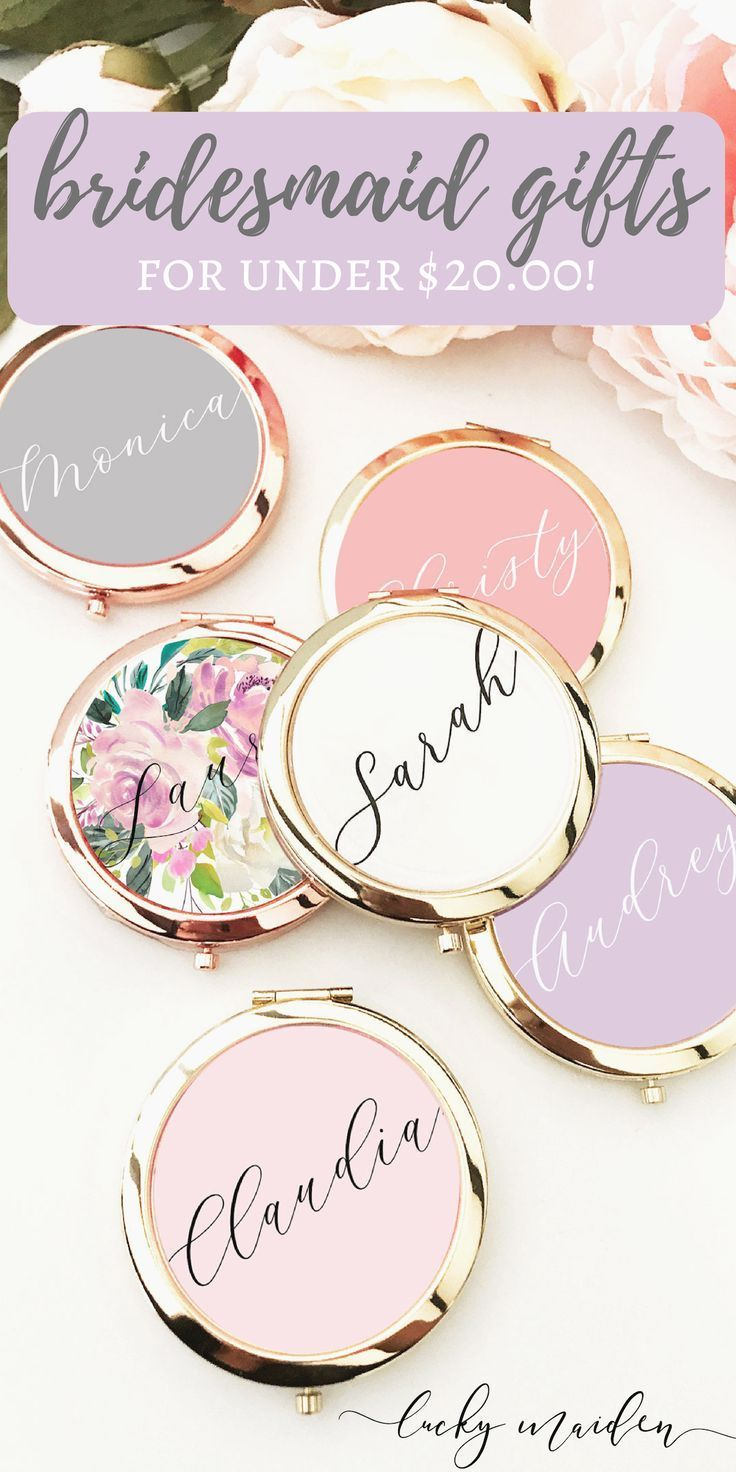Personalized Compact Mirror with Gift Box