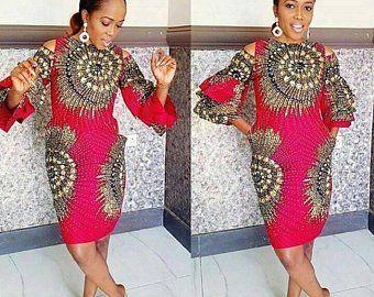 African print midi dress -Ankara dress-Midi dress- dress-Ankara dress with peplum details -African clothing -women clothing.Mermaid dress #afrikanischeskleid