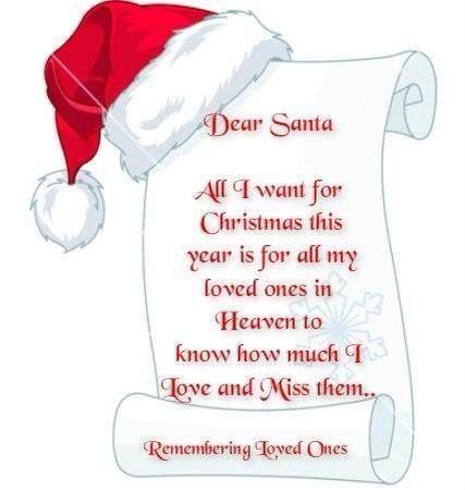 Dear Santa All I Want For Christmas Miss Mom Loved One In Heaven Miss You Mom