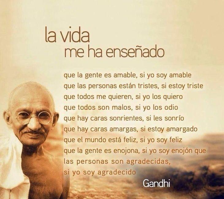 Frases De Gratitud Frase De Gandhi Gratitud Frases