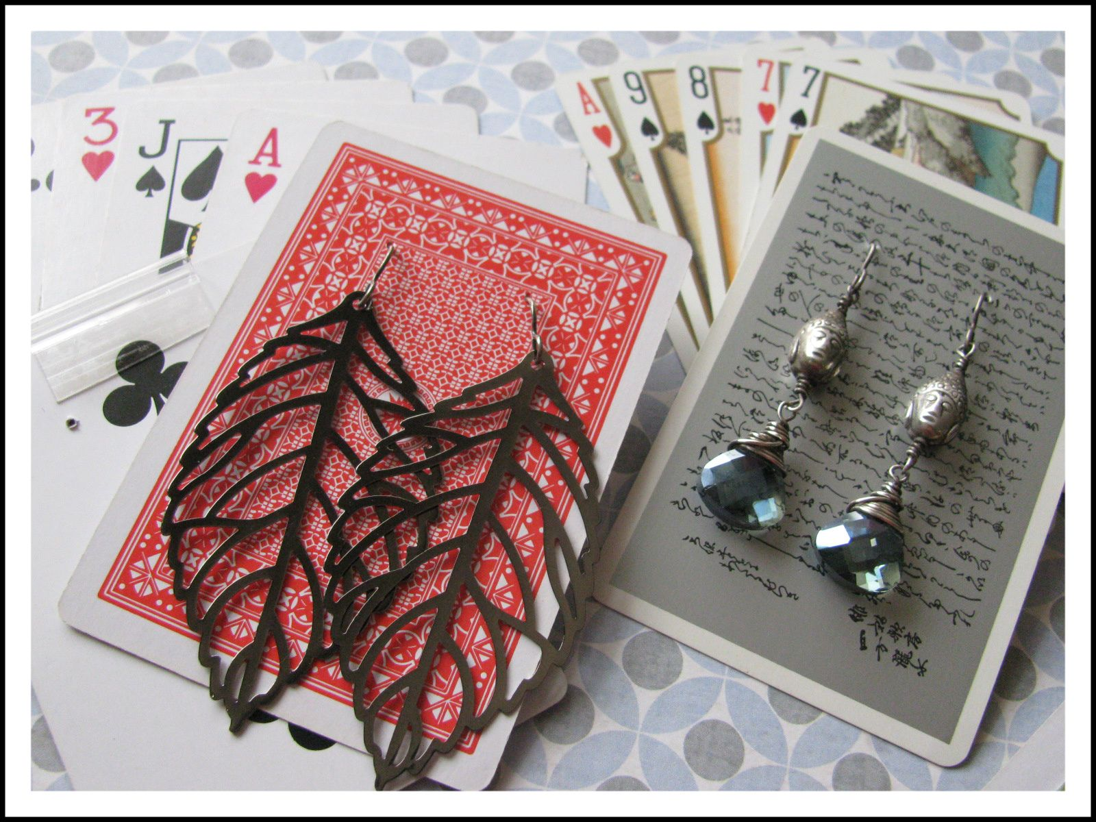 Never Thought Of Using Playing Cards To Hold Earrings How