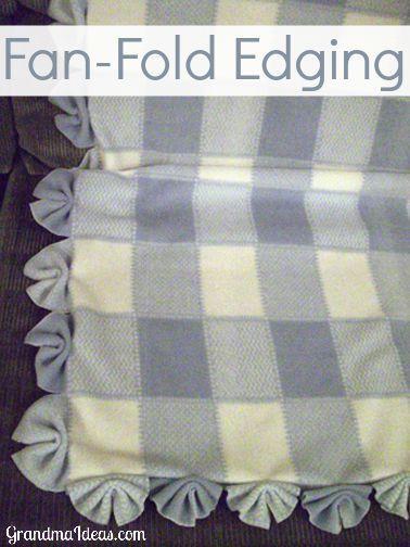 Fan Edging Fleece Tie Blankets No Sew Fleece Blanket