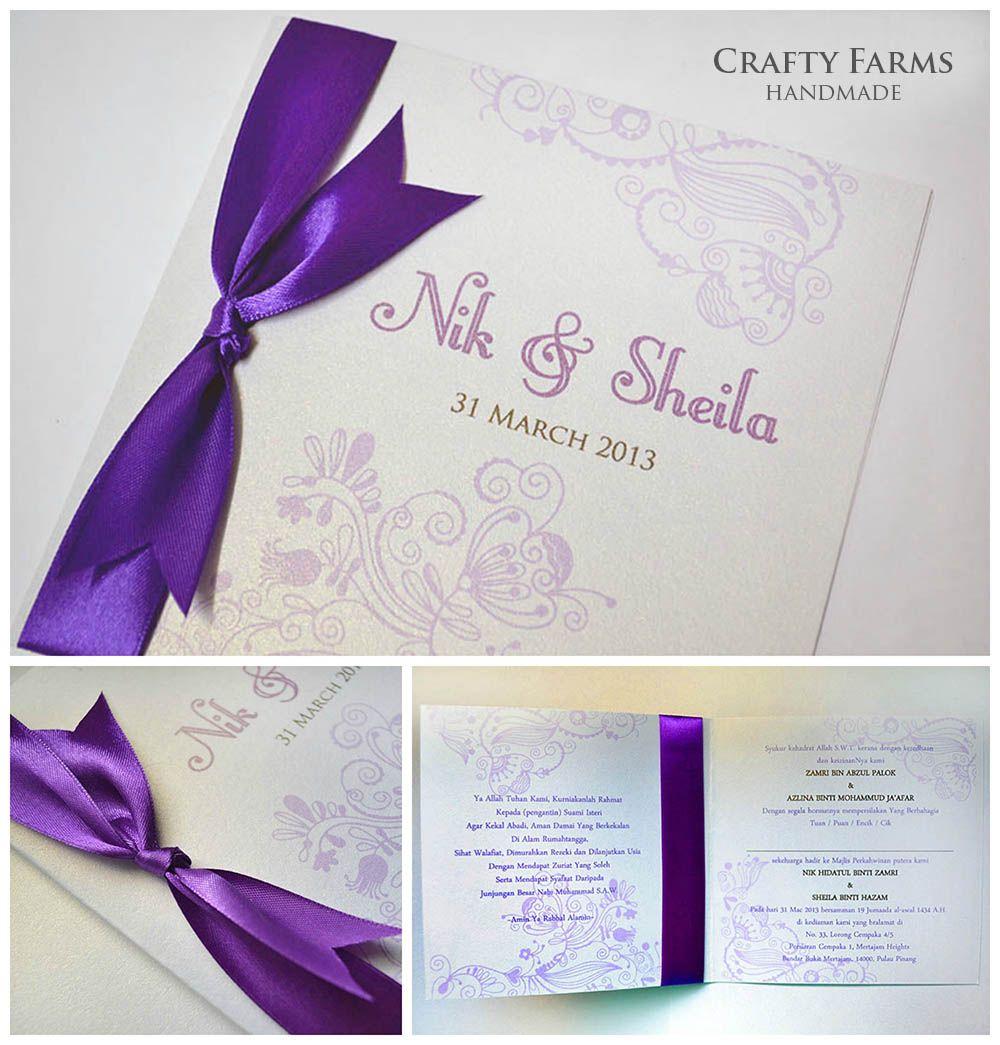 Batik Malay Handmade Wedding Card with Ribbon (craftyfarms.blogspot ...