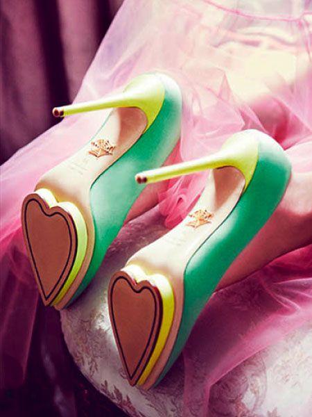 "Charlotte Olympia ""Debonaire"" Heart Platform Pumps"