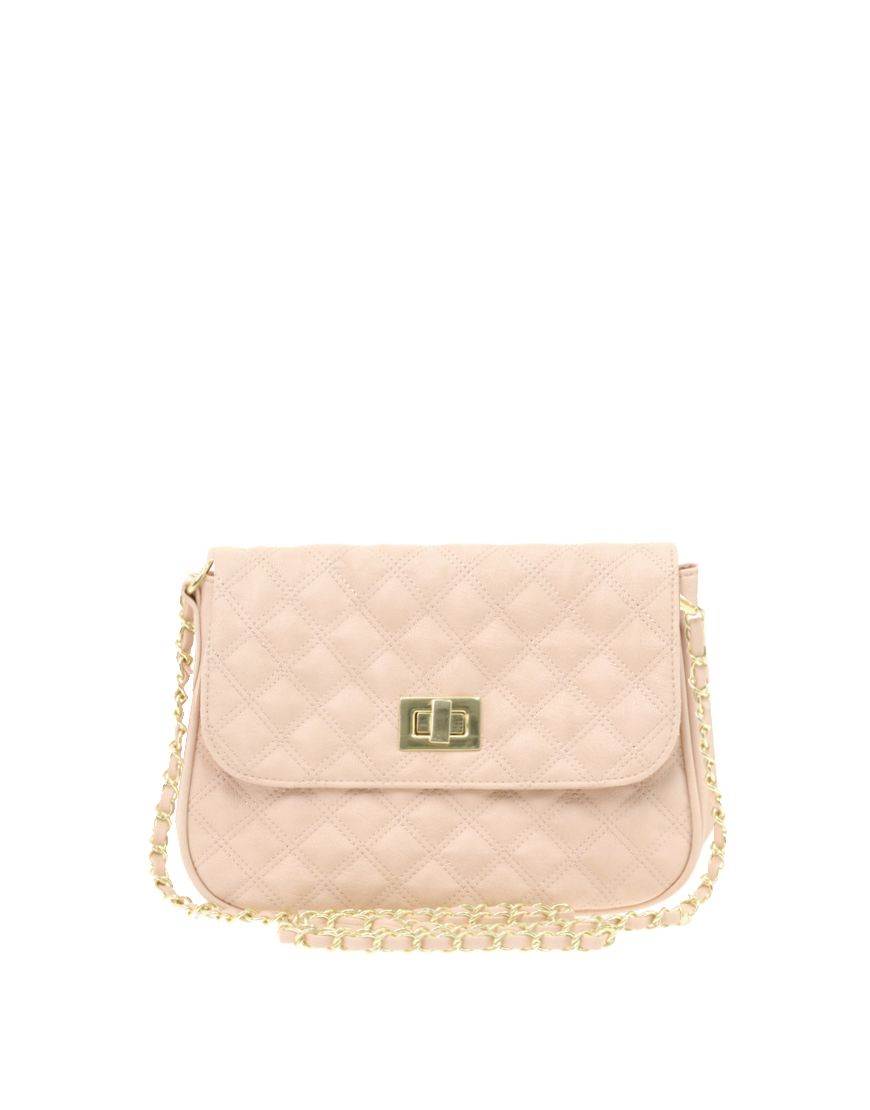 274d11d4bb7 Cute soft pink, channel style quilted handbag from asos.com only $26.09