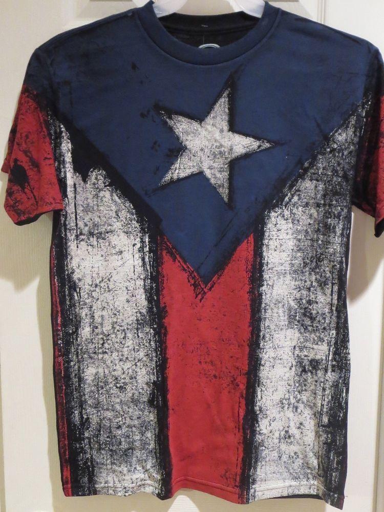 Puerto Rico Flag T Shirt Pride Tee Shirt S M L Xl 2xl 3xl New Pride Shirts Patriotic Tee Shirts Pride Tees