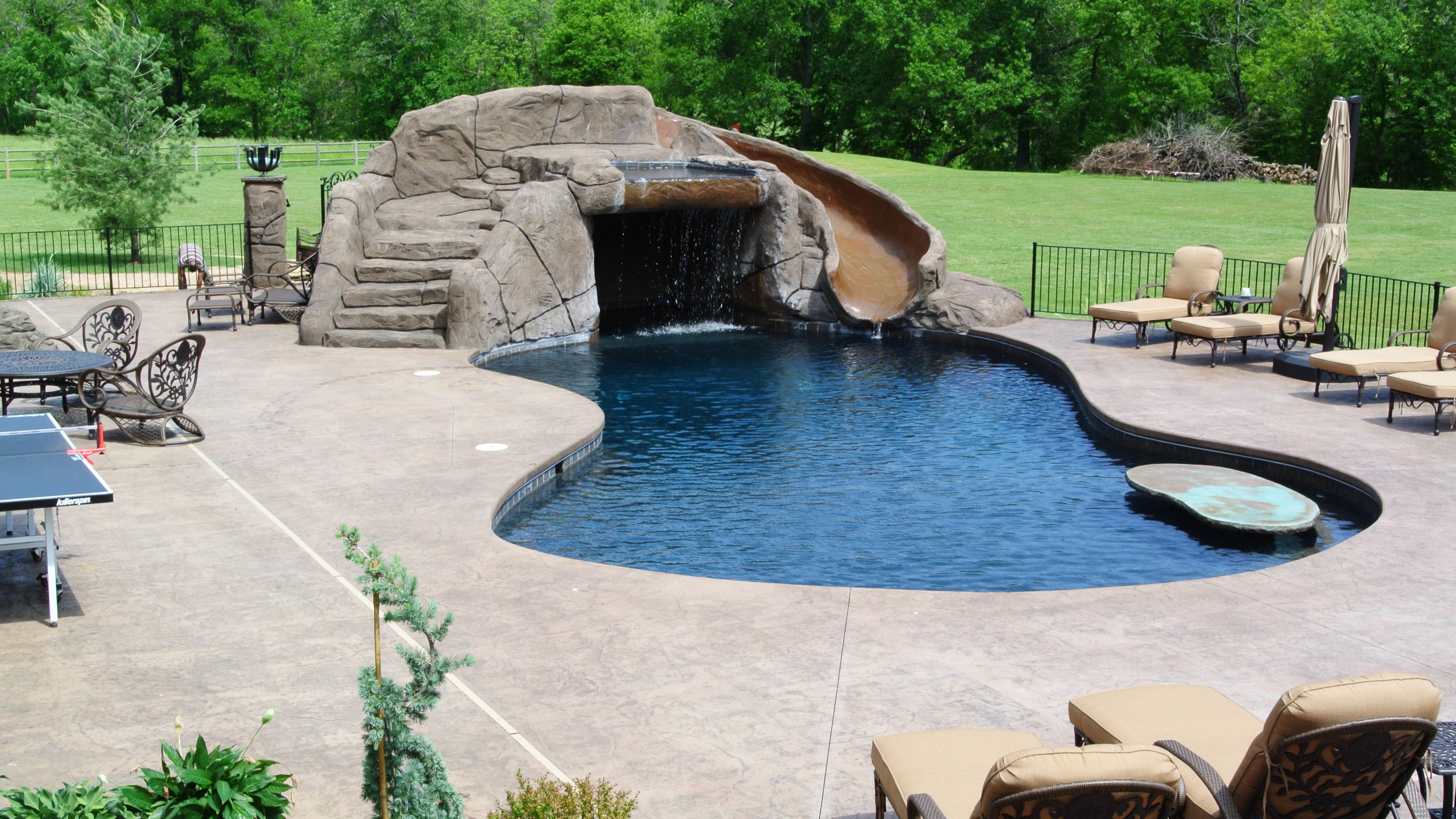 Pin By Amy Harper On Secret Ideas Swimming Pool Builder Gunite Swimming Pool Concrete Swimming Pool