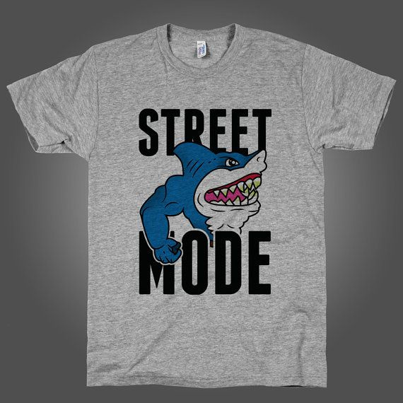Street Mode, Geeky Throwback Shirt on an Athletic Grey T Shirt