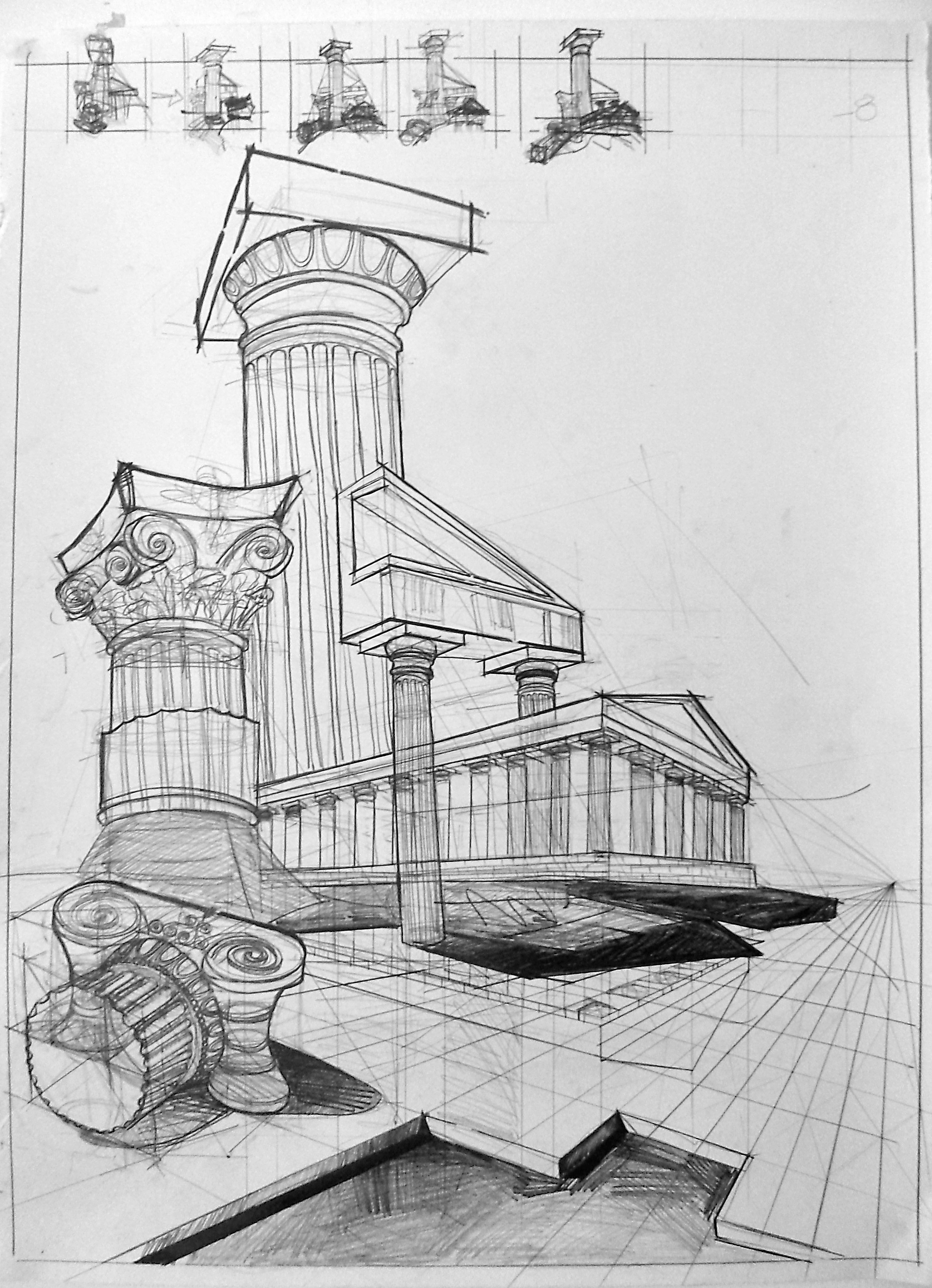 Greek Architecture Composition. You got an Ionic, Doric ...