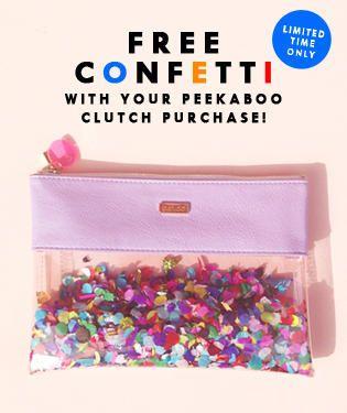 Ban.do Peekaboo Clutch - FREE CONFETTI