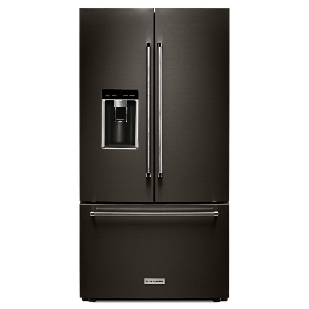 kitchenaid 23 8 cu ft french door refrigerator in black stainless rh pinterest com