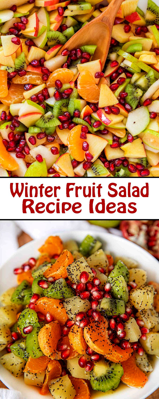 Winter Fruit Salad Christmas Thanksgiving Fruit Salad Recipes Winter Fruit Salad Yummy Salad Recipes