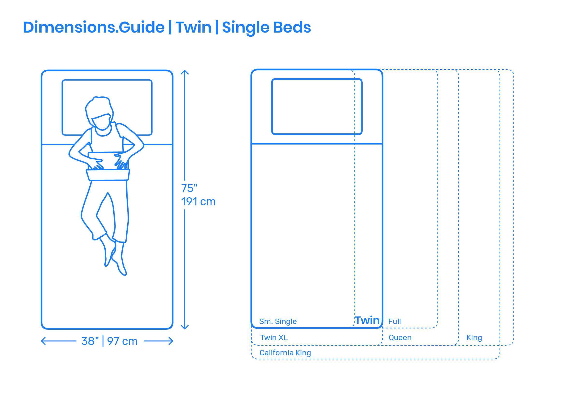 Twin Single Bed Planos, Dormitorios, Camas